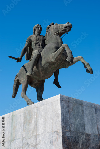 Statue of Alexander the Great at Thessaloniki, Greece