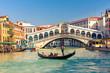 Leinwanddruck Bild - Rialto Bridge in Venice