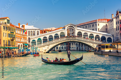 Canvas Europese Plekken Rialto Bridge in Venice