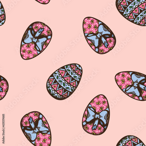 Seamless Easter pattern.