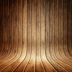 Edle Holzwand gebogen