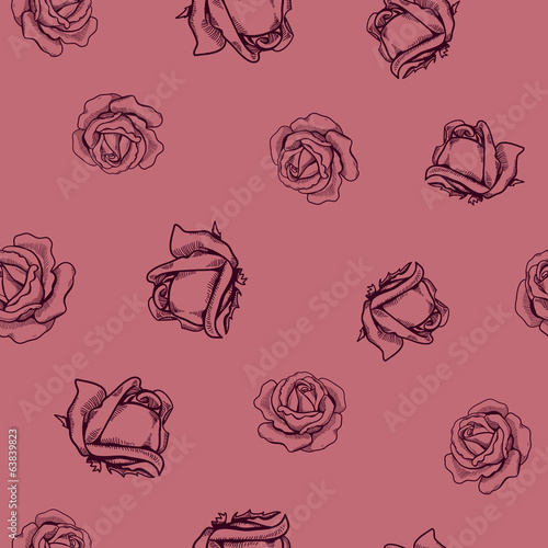 Seamless flowers pattern. Nature background concept.