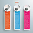 Three Colored Oblong Banners Music Notes