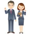 スーツを着た男性と女性/弁護士 - 63840283