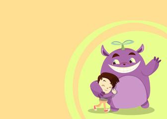 Friendship Card - Smith Hugging Purple