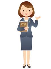 スーツを着た女性/弁護士