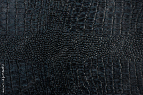Black crocodile skin texture as a background