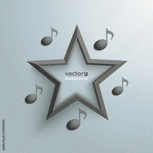 Black Star Music Notes