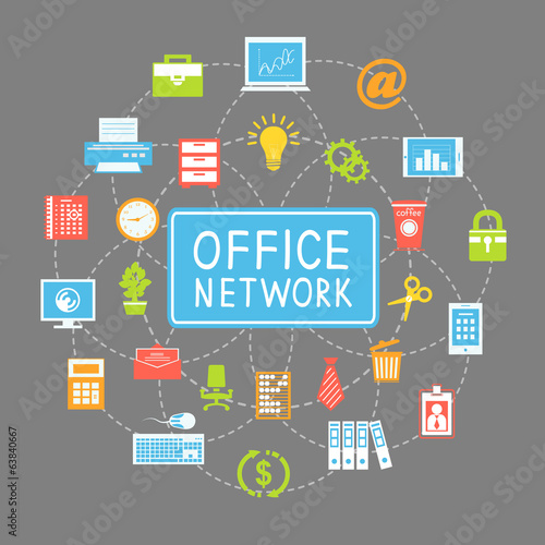 Business office networking and communication