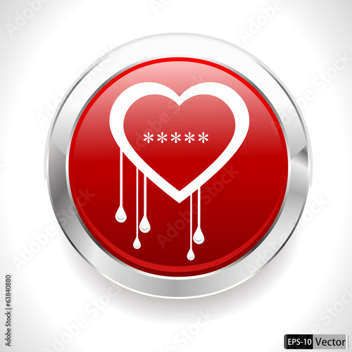 heartbleed openssl bug virus bleeding heart badge