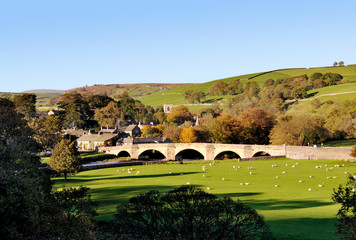 burnsall, village, yorkshire dales