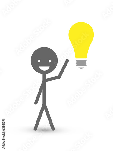 STICKMAN HAS A BRIGHT IDEA (innovation solutions design)