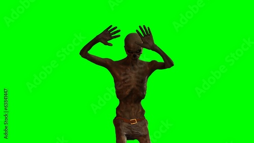 walking dead undead zombie strikes disc -  green screen