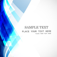 Abstract stylish technology blue colorful wave background vector