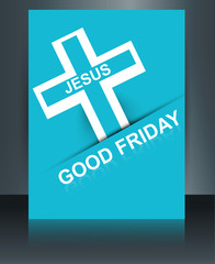 Beautiful card colorful religious background for good friday bro