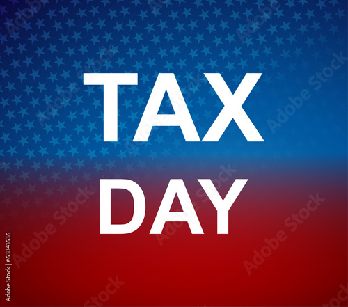 Tax day colorful background vector illustration
