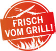 Button Frisch vom Grill orange