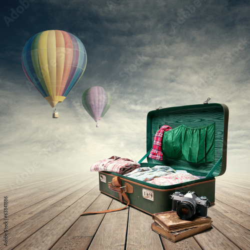 canvas print picture Photojournalist's luggage