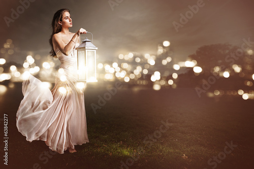 Leinwandbild Motiv Lantern