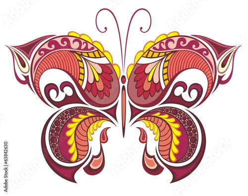 Decorative colorful butterfly for summer design