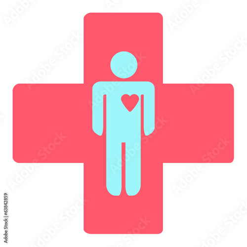 medical cross with a man