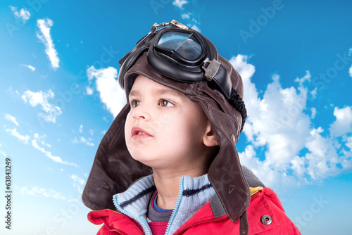 Young boy aviator