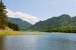 Landscape with mountains lake. Altai, Suberia