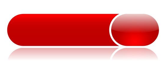 Bouton Web Rouge (internet touche vecteur gel brillant reflet)