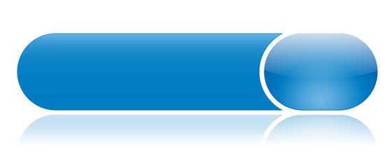 Bouton Web Bleu (internet touche vecteur gel brillant reflet)