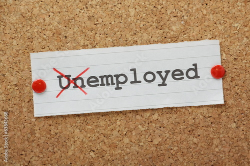 The word Unemployed changed to read Employed