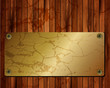 Metallic gold frame on a wooden background 22