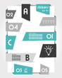 set of oblique turquoise origami stickers