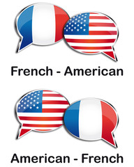 French - American translator clouds