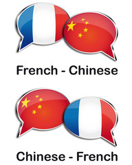 French - Chinese translator clouds