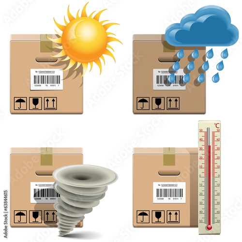 Vector Shipment Icons Set 32
