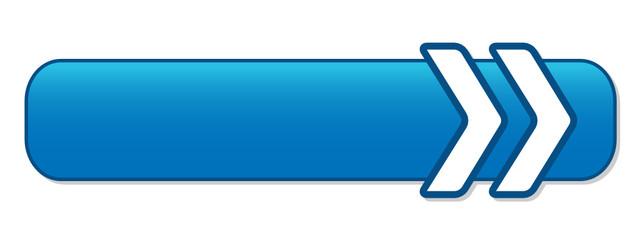 BLANK web button (square blue icon symbol template)
