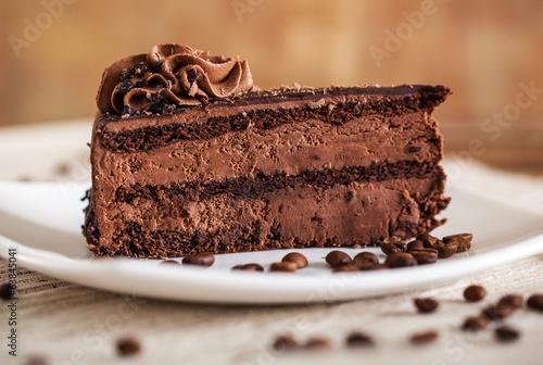 Keuken foto achterwand Bakkerij Chocolate cake