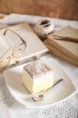 Cream pie on grandmothers table