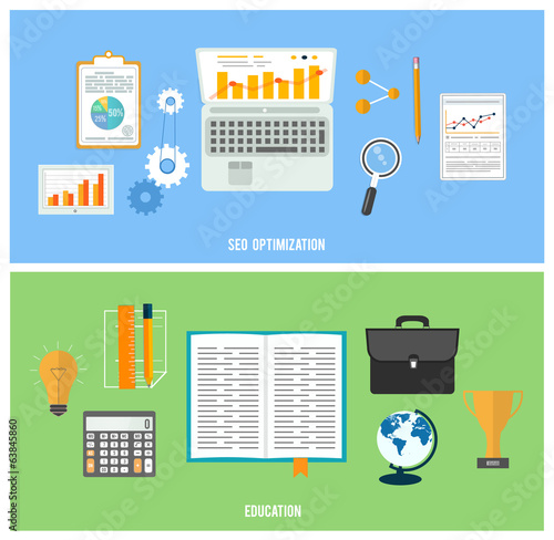 Business, seo and education items icons.