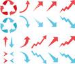アップダウンの赤と青の矢印