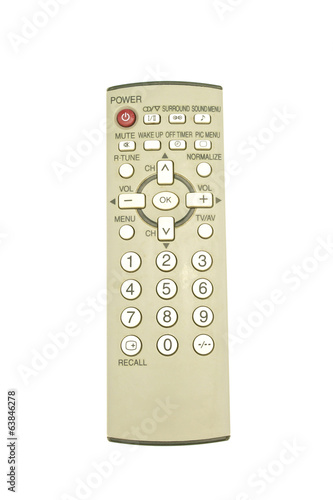Old remote control for television put straight