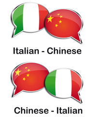 Italian - Chinese translator clouds