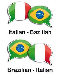 Italian - Brazilian translator clouds