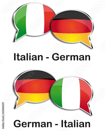 Italian - German translator clouds