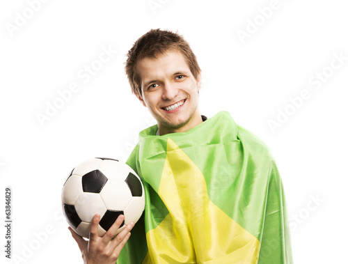 Male soccer fan