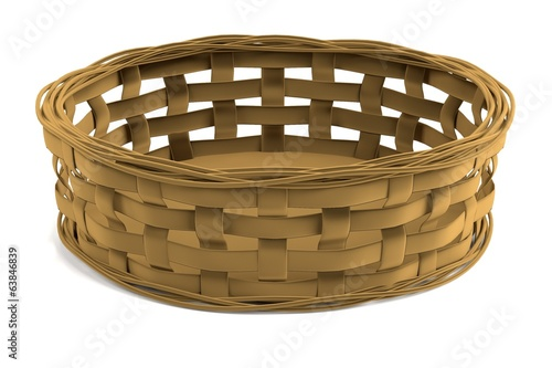 realistic 3d render of fruit basket