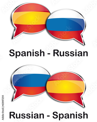 Spanish - Russian translator clouds