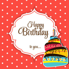 Happy Birthday Card Vector Illustration