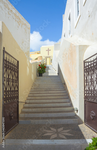Stairs to the Church, Santorini.
