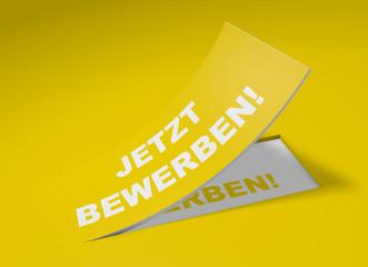 3D Etikett Gelb - Jetzt bewerben!